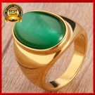 Fashion High Quality Vintage 316L Stainless Steel Big Oval Men Ring size 7-12