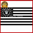 Hot new Los Angeles Oakland Raiders Flag polyester 3'x5' flag with usa flag