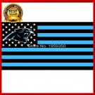 Hot New Carolina Panthers Football Team polyester 3' X 5' Flag white sleeve