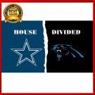 NEW Dallas Cowboys vs Carolina Panthers House Divided Rivalry Flag 90x150cm