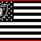 NEW Oakland Raiders Flag Black&White Color Star-Spangled Banners Flagswith Star