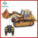RC Truck 6CH Bulldozer Caterpillar Track Remote Control Simulation Engineering