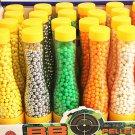 700pcs/1bottle 0.12g 6mm hard plastic bb gun paintball toy PVC ball