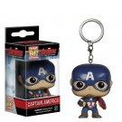 Funko pocket pop keychain Marvel comics Captain America bobble head new in box