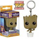 Funko pocket pop keychain Marvel comics Dancing Groot bobble head new in box