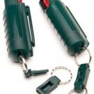 15% OC Pepper Spray in Plastic Holster  Green#PSK5M-18    NEW LAW ENFORCEMENT  FORMULA
