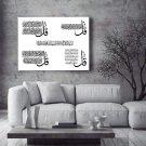 Hand Crafted Islamic Canvas - 4 QUL, Char QUL, Islamic Caligraphy, Islamic Wall Art