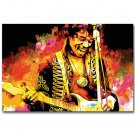 Jimi Hendrix Rock Music Star Poster 32x24