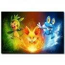 Pocket Monster Pikachu Anime Poster Print Pokemon 32x24