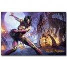 Mileena Mortal Kombat Hot Fighting Game Art Poster Print 32x24