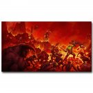 The Ultimate DOOM 4 New Game Art Poster Print 32x24