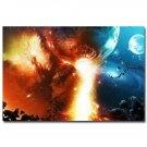Outer Space Galaxy Stars Nebula Landscape Poster 32x24