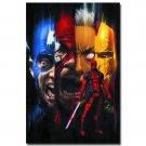 Deadpool Superheroes Comic Movie Fabric Poster Print 32x24