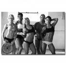 Bodybuilding Girls Fitness Motivational Poster Gym Decor 32x24