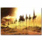 Caravan Salvador Dali Abstract Art Poster Elephants 32x24