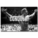 Conquer Arnold Schwarzenegger Bodybuilding Motivational Quotes Poster 32x24