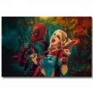Deadpool And Harley Quinn Superheroes Comic Movie Poster Print 32x24