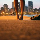 City Sea Girl Feet Positive Art Print POSTER 32x24