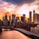 Brooklyn Bridge Manhattan New York USA Cityscape Print POSTER 32x24