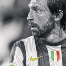 Andrea Pirlo Black White Soccer Football Print Large POSTER 32x24