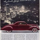 Vintage Lincoln Zephyr Car Ad Art Print 32x24