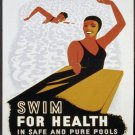 Swims For Health In Pools Wpa Poster Art Print 32x24