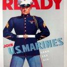 Wwii Ready Us Marines War Propoganda Poster Art Print 32x24