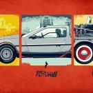 Back To The Future DMC 12 Car Wall Print POSTER Decor 32x24