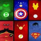SuperHero Quotes Art Wall Print POSTER Decor 32x24