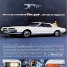 Vintage Mercury Cougar Car Ad Art Print 32x24