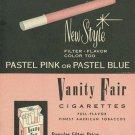 Vintage Vanity Fair Cigarette Smoking Ad Art Print 32x24