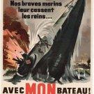 Wwii French Bateau War Propoganda Poster Art Print 32x24