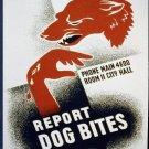 Report Dog Bites Wpa Poster Art Print 32x24