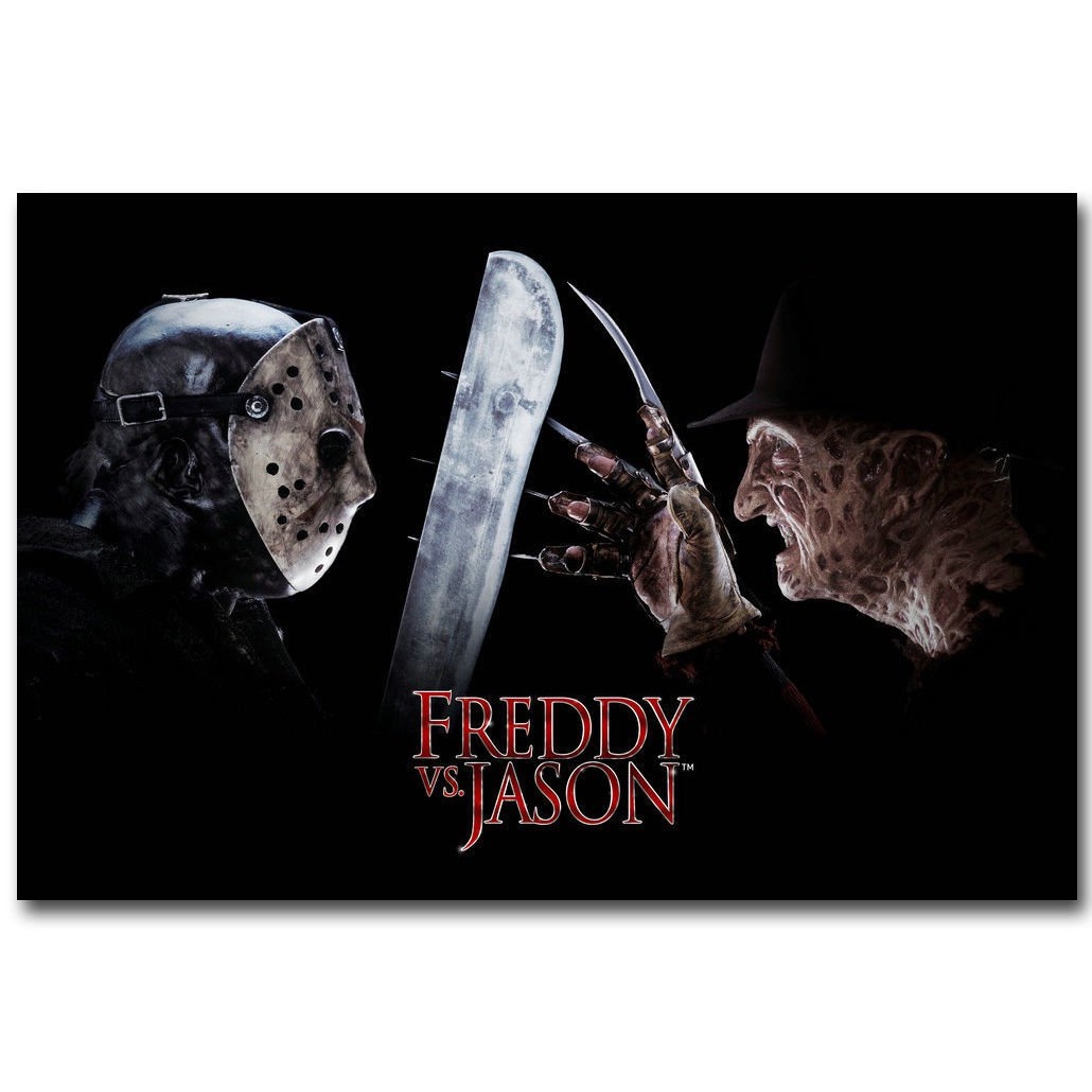 Freddy Vs Jason Horror Movie Film Poster Print 32x24