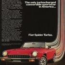 Vintage Fiat Spider Turbo Car Ad Art Print 32x24