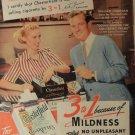 Vintage Chesterfield Mildness Cigarette Smoking Ad Art Print 32x24