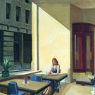 Edward Hopper Sunlights In Cafeteria Fine Art Print 32x24