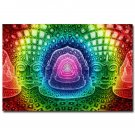 Psychedelic Trippy Abstract Art Poster 32x24