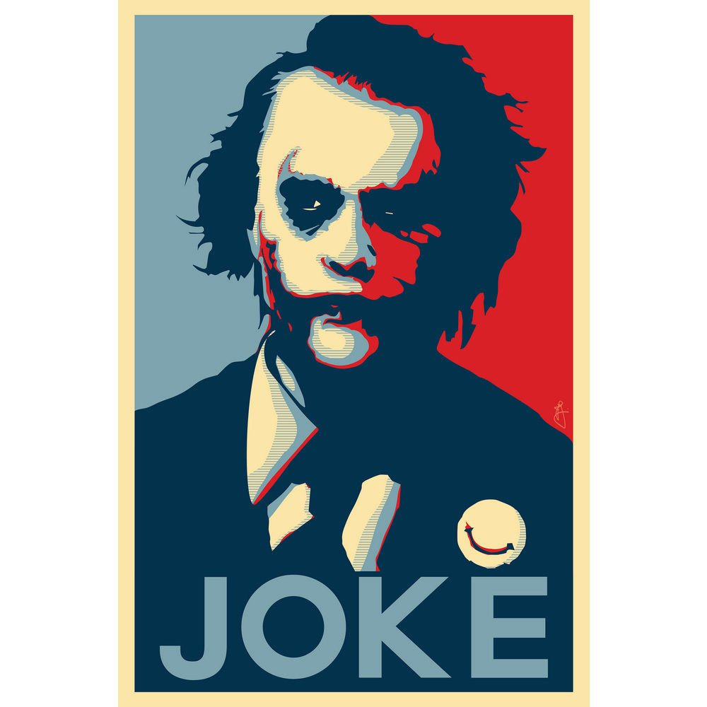 Joker Batman The Dark Dark Knight Vintage Art Poster 32x24