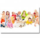 Baby Kids Art Poster Wall Pictures For Children Mothers Room Great Gift 32x24
