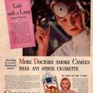 Vintage Camels Doctors Cigarette Smoking Ad Art Print 32x24
