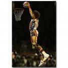 Julius Erving DR J Dunk Basketball Vintage Poster 32x24