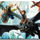 How To Train Your Dragon 2 Movie Fabric Poster Print 32x24
