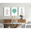 Cartoon Minimalist Quote Art Canvas Poster Picture Children Room Decor 32x24
