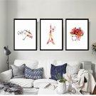 Watercolor Style Animals Landscape Minimalist Art Canvas Poster Picture 32x24