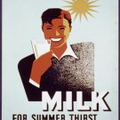 Milk For Summer Thirst Wpa Poster Art Print 32x24
