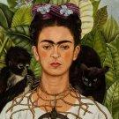 Frida Kahlo Self Portrait Painting Fine Art Print 32x24