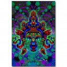 Buddha Psychedelic Trippy Abstract Art Poster 32x24