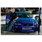 Fast And Furious 7 Paul Walker Movie Poster Car Racing 32x24