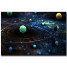 Milky Way Universe Galaxy Science Poster Trippy 32x24